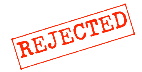 a red REJECTED stamp