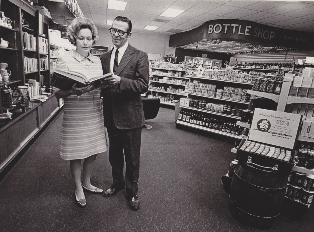 Here are my stylish folks preparing for the opening of our store in 1968.
