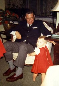 Margot Lester at her Daddy's knee