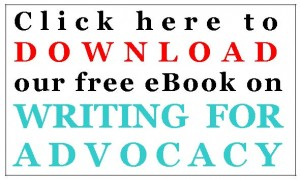 Download a free ebook on writing for advocacy