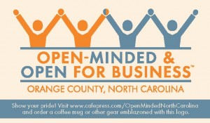 open-minded and open for business. orange county, n.c.