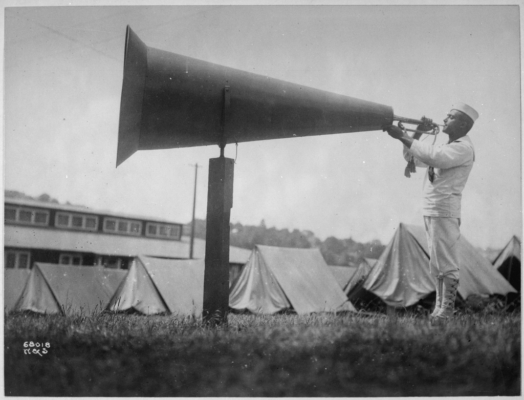a megaphone illustrating a post on content amplification