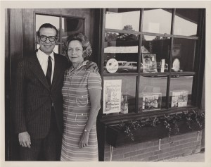 A picture of Margot's parents, who were small business owners