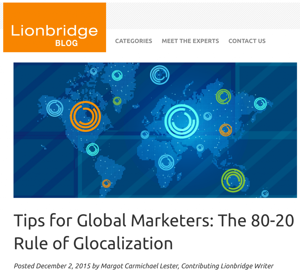 If you can't see this image, visit this link: https://content.lionbridge.com/tips-for-global-marketers-the-80-20-rule-of-glocalization/