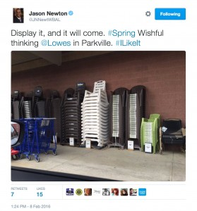 Springtime chairs at Lowe's
