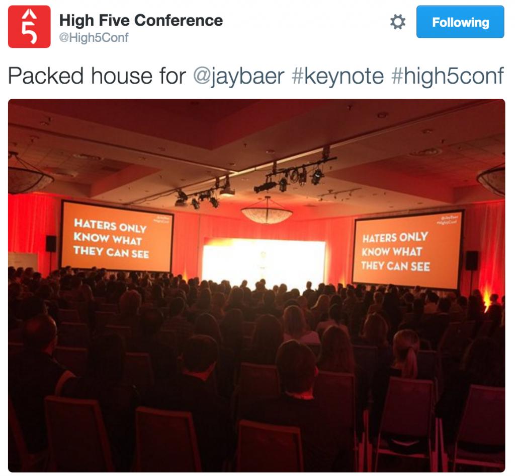 Jay Baer talks marketing at #high5Conf