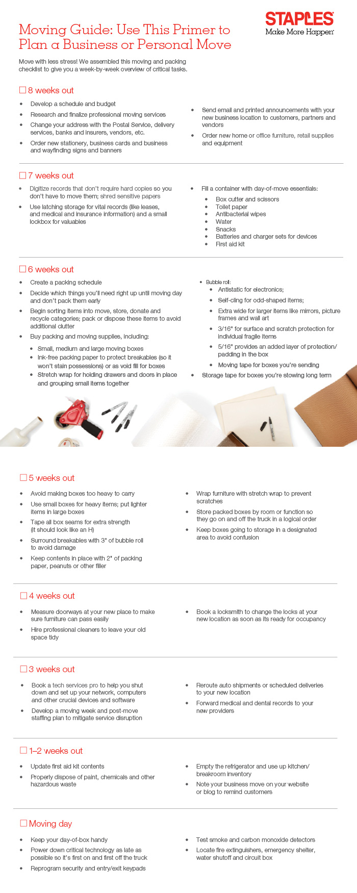 This is a moving checklist we created for Staples.