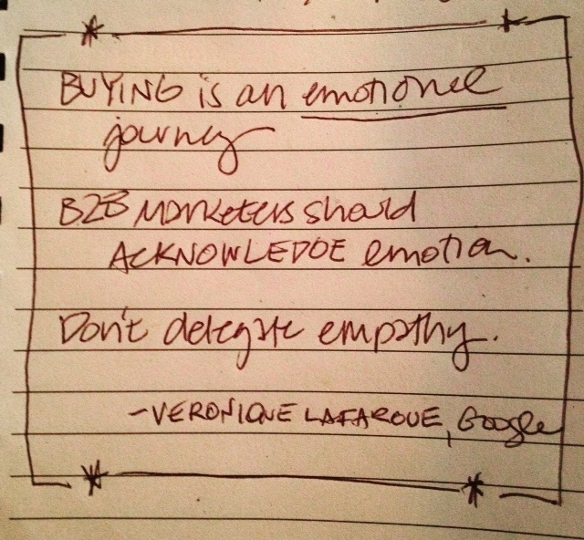 "Google's Veronique Lafargue: ""Buying is an emotional journey."""