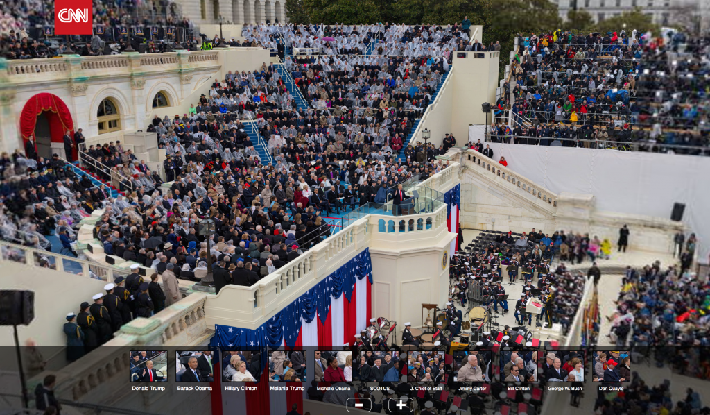 A screen shot of CNN's amazing Gigapixel of the Inaugruation