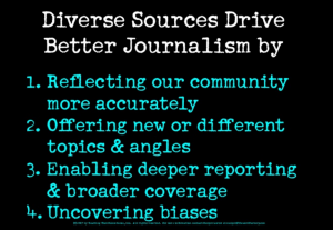 a slide outlining why source diversity matters