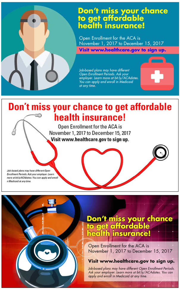 2017 ACA Open Enrollment Ads by The Word Factory