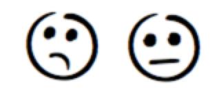 Skeptical emojis