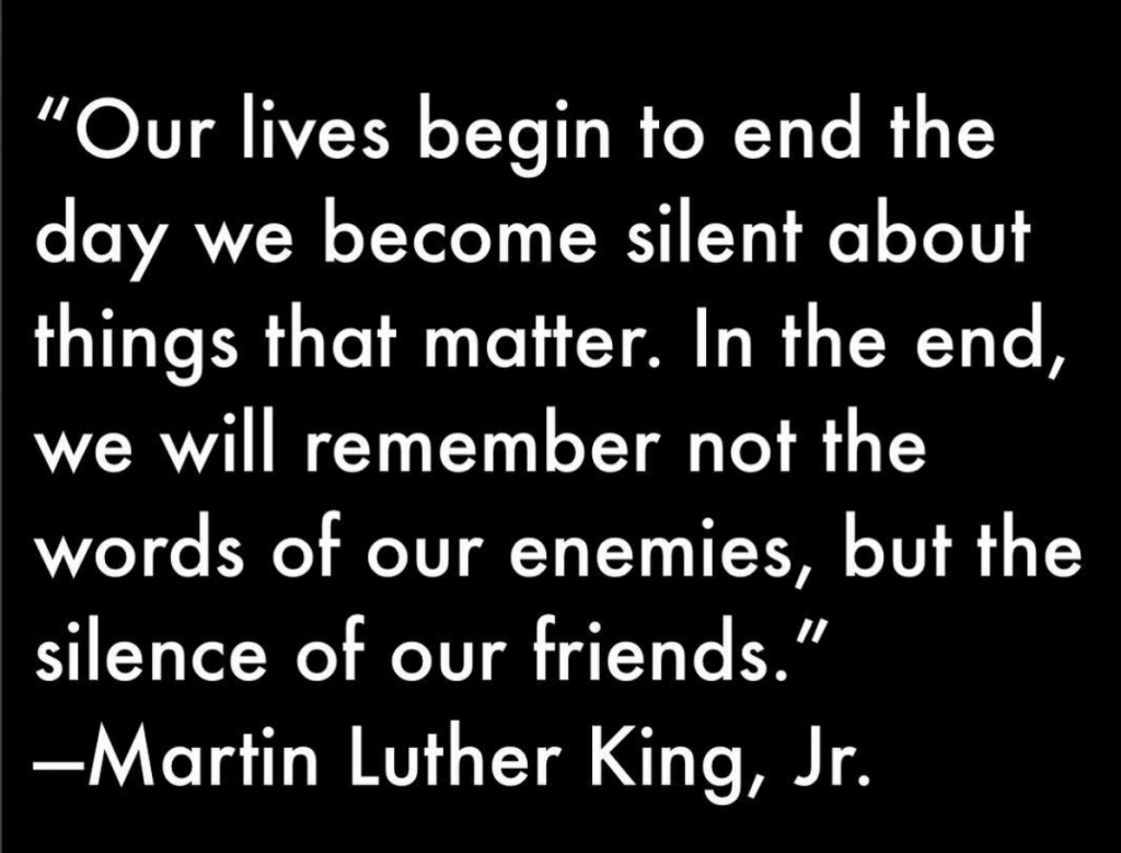A quote from Martin Luther King Jr.