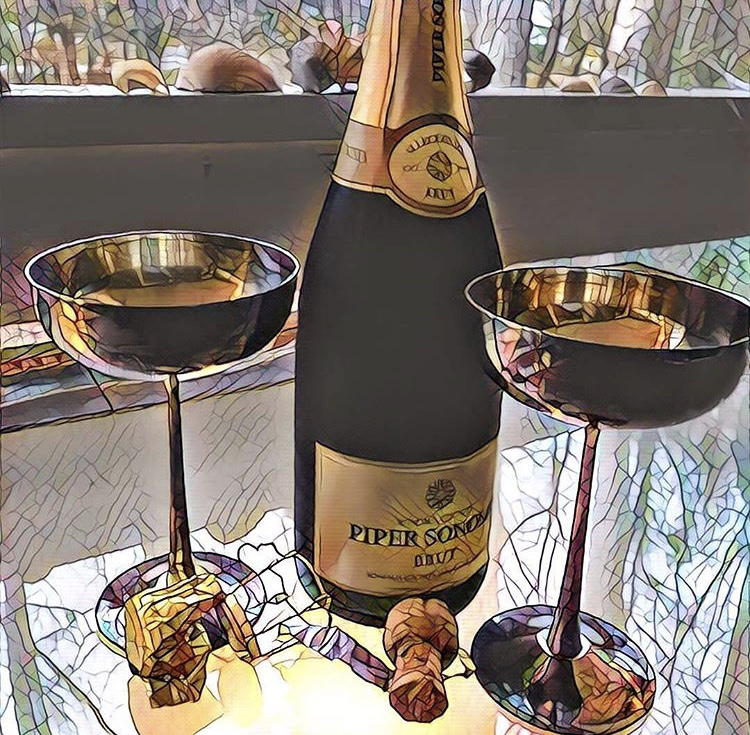champagne celebrating The Word Factory's 25th anniversary
