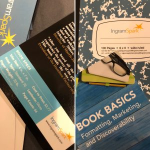 A selection of trade show give-aways from Ingram Spark