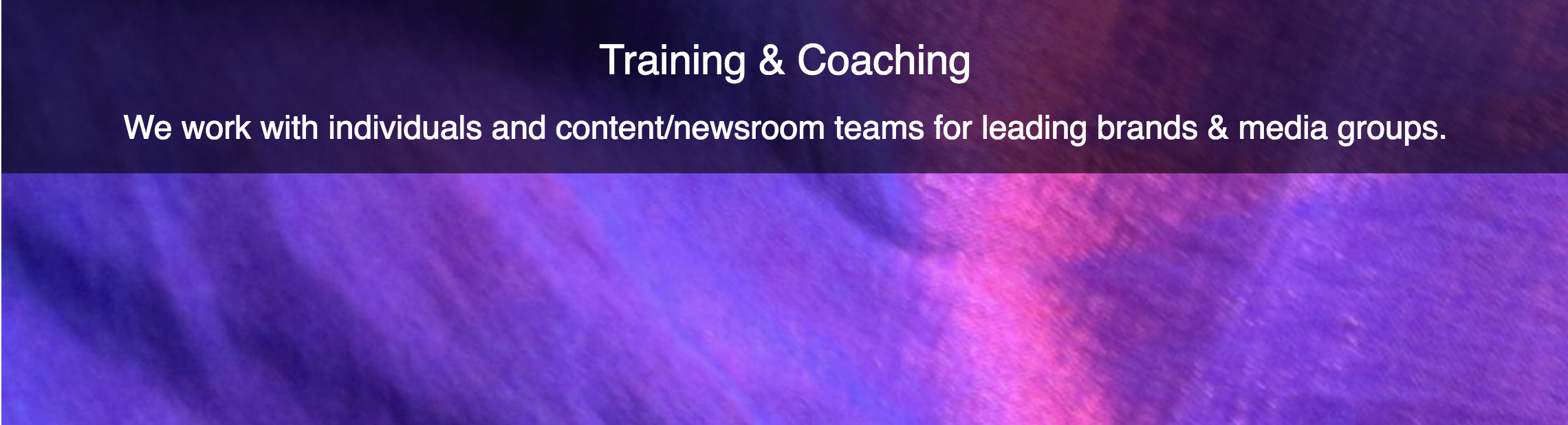 cool graphic for margot lester's coaching and training page