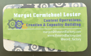 Margot Lester's business card
