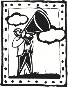 Megaphone icon on Margot Lester's Writing Coach page