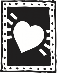 Heart icon on The Word Factory's  website