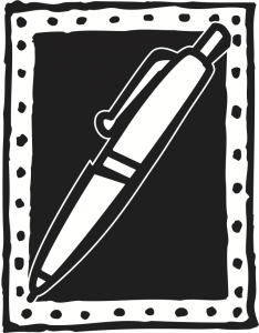 A pen icon illustrating The Word Factory training page