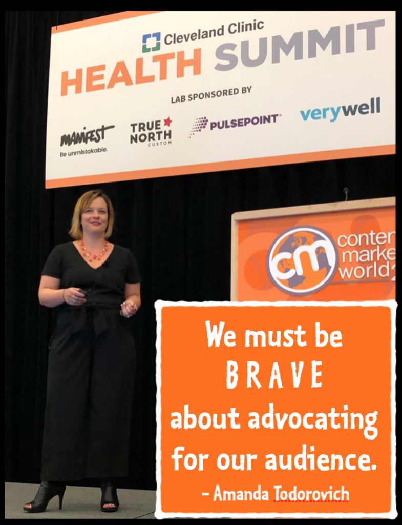 We must be brave about advocating for our audience - Amanda Todorovich