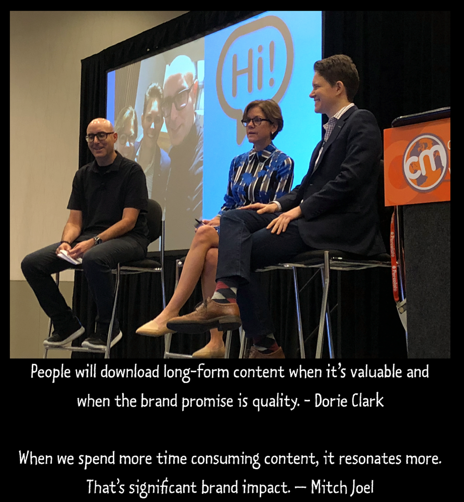 Insights on long-form content from Mitch Joel and Dorie Clark