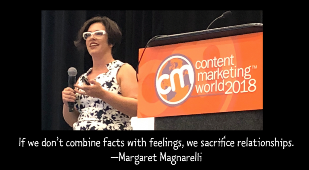"""If we don't combine facts with feelings, we sacrifice relationships."" - Margaret Magnarelli"