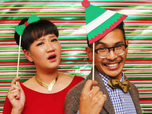 Cute picture from a holiday office party
