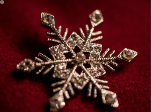 A cute snowflake pin
