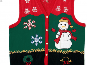 A truly ugly holiday sweater vest