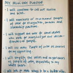 A photo of Margot Lester's pledge for Martin Luther King Jr. Day